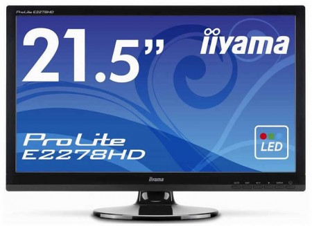 Iiyama анонсировала 21,5-дюймовый монитор ProLite E2278HD