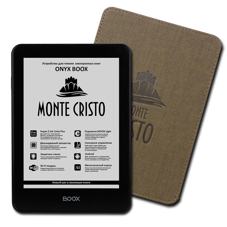 Ридер Onyx Boox Monte Cristo получил сенсорный экран с подсветкой Moon Light»